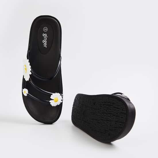 GINGER Women Appliqued Sliders