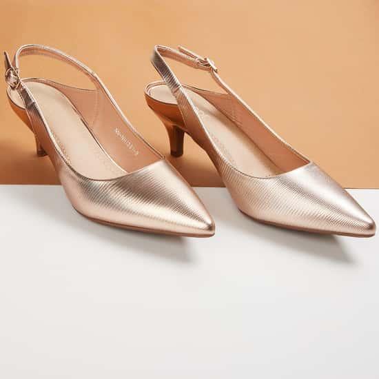 CODE Women Solid Slingback Heels