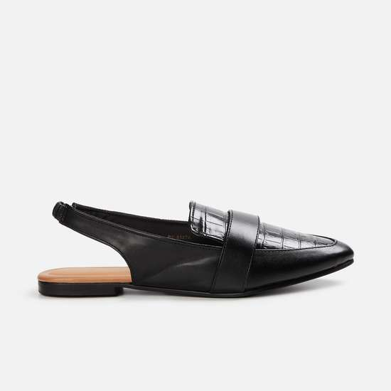 GINGER Women Textured Pointed Toe Shoes