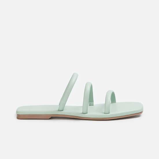 GINGER Women Solid Open-Toe Flats