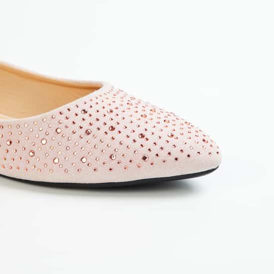 MELANGE Women Embellished Pointed Toe Ballerinas