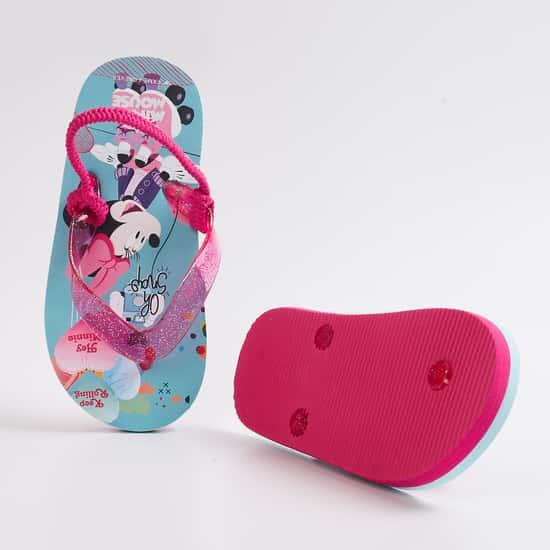 FAME FOREVER Girls Printed Sling Back Slippers