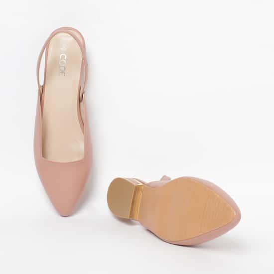 CODE Women Solid Slingback-Strap Ballerina Flats