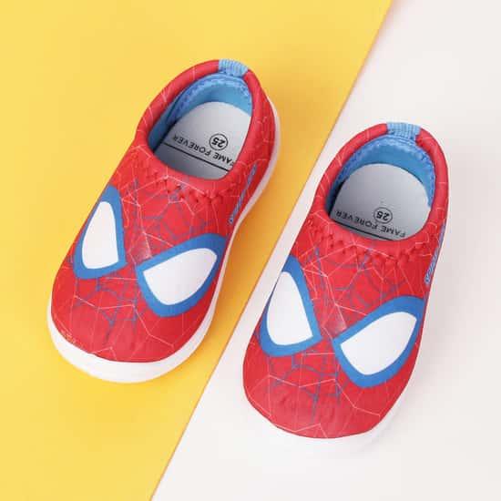FAME FOREVER Boys Spiderman Print Slip-On Shoes