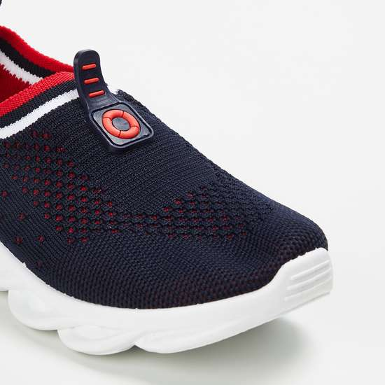 FAME FOREVER Boys Textured Sock-Knit Shoes