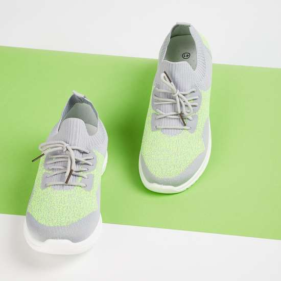 GINGER Women Mesh Lace-Up Sports Shoes