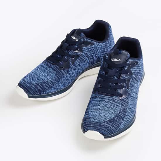 FORCA Men Textured Lace-up Shoes
