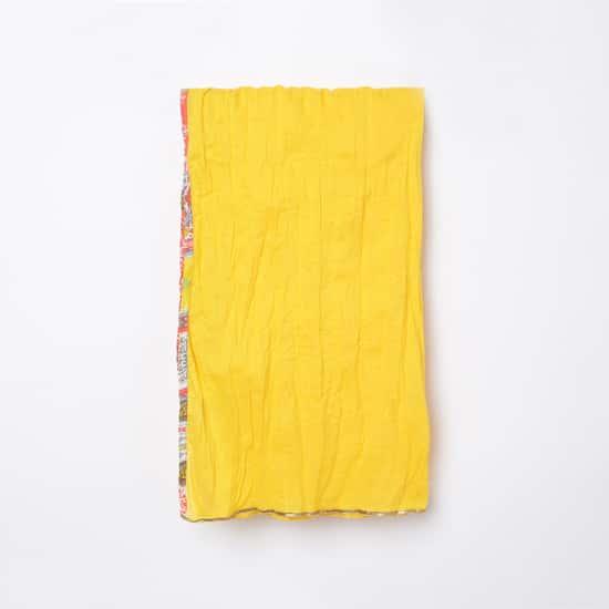 MELANGE Girls Printed A-Line Kurta with Solid Churidar and Dupatta
