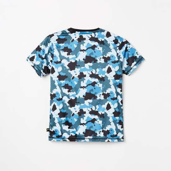 FAME FOREVER ACTIVE Boys Camouflage Print Crew Neck T-shirt