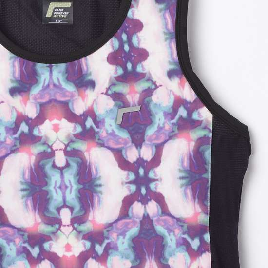 FAME FOREVER ACTIVE Girls Printed Sleeveless Round Neck Top