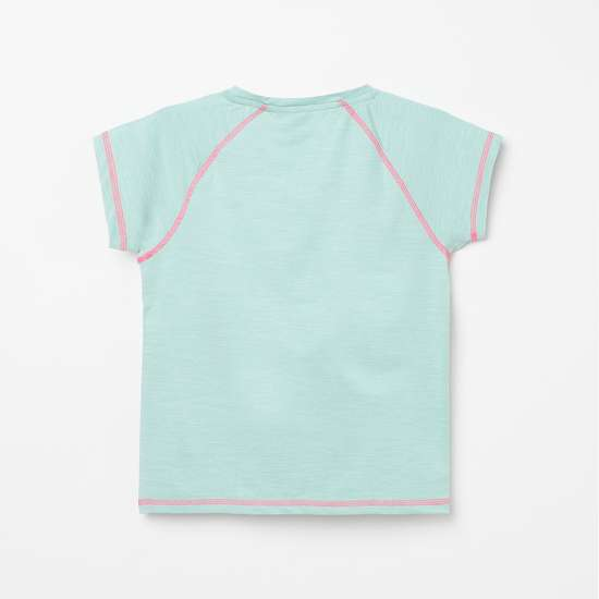 FAME FOREVER ACTIVE Girls Textured Knit T-shirt