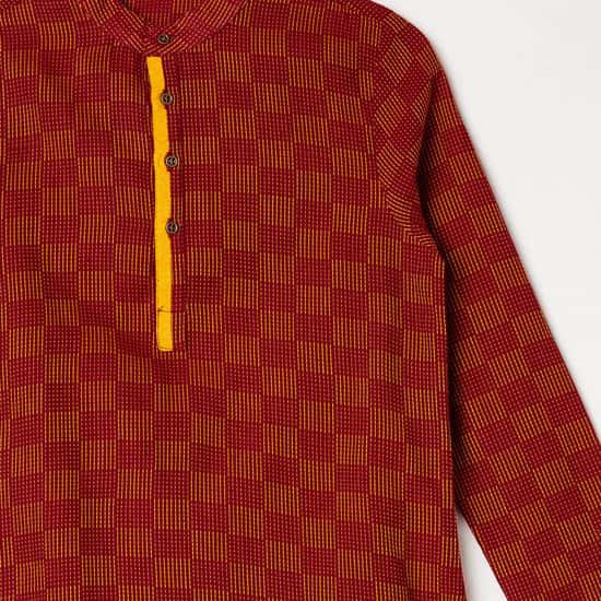MELANGE Men Printed Kurta with Solid Pyjamas