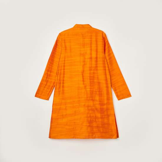 MELANGE Boys Textured Kurta with Elasticated Pyjamas
