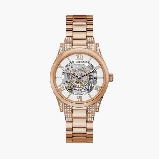 GUESS Women Embellished Analog Watch- GW0115L3