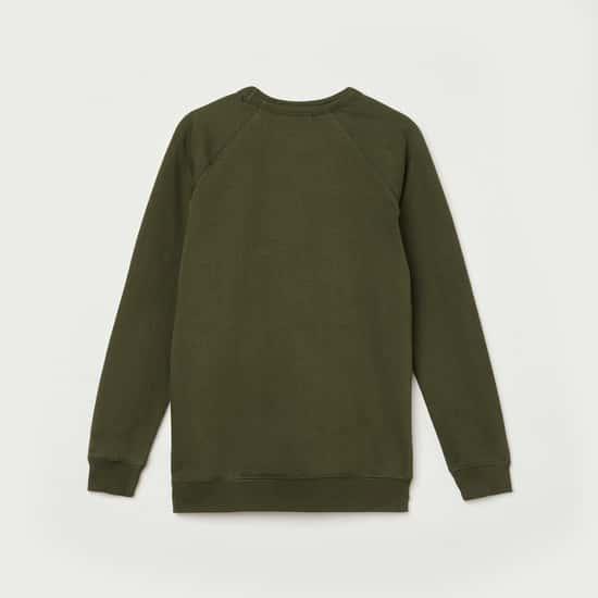 FAME FOREVER DENIMIZE Boys Solid Full Sleeves Sweatshirt