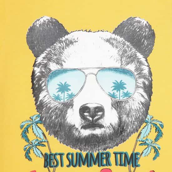 FAME FOREVER DENIMIZE Boys Graphic Print Crew Neck T-shirt