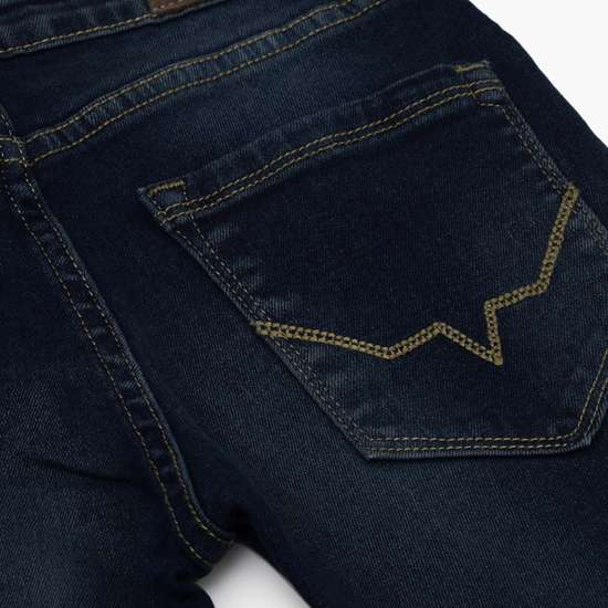 PEPE JEANS Boys Dark Washed Slim Fit Jeans