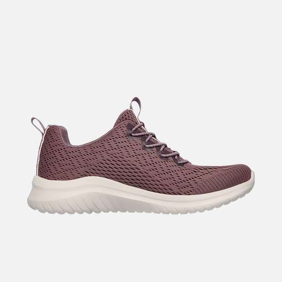 SKECHERS Women Textured Lace-Up Walking Shoes