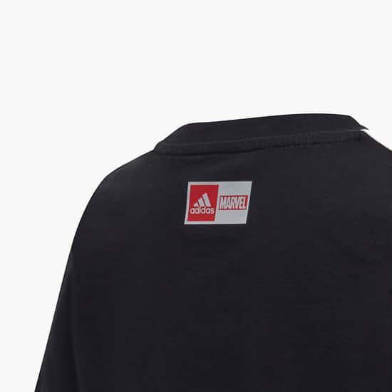 ADIDAS Boys Printed Crew Neck T-shirt