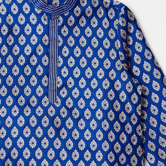 MELANGE Printed Kurta with Solid Pyjamas