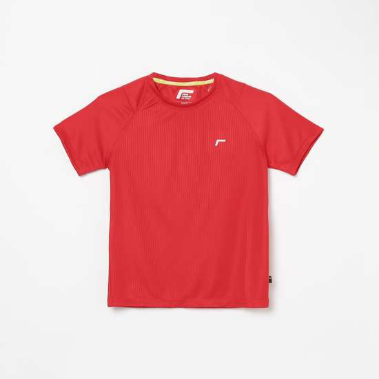 FAME FOREVER ACTIVE Boys Textured Crew Neck T-shirt