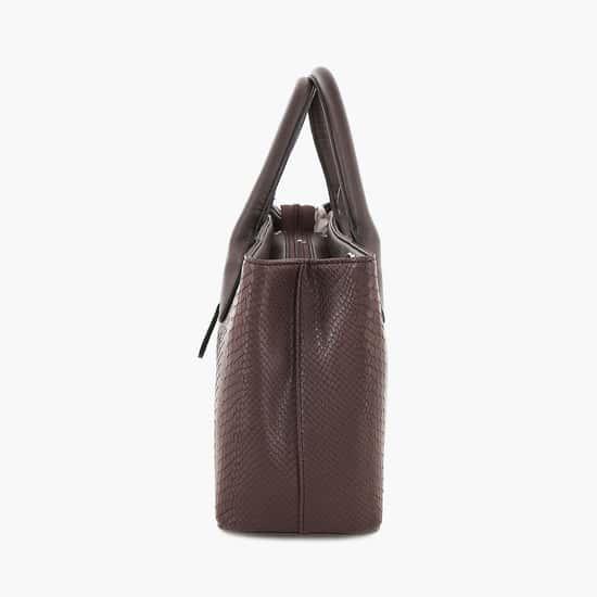 LAVIE Women Textured Zip-Closure Handbag