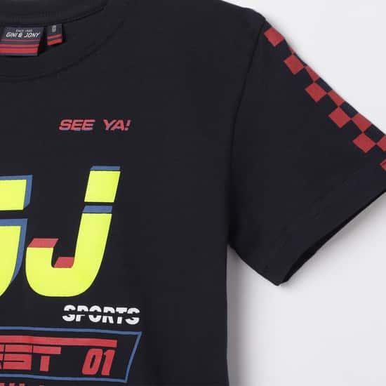 GINI & JONY Boys Printed Crew Neck T-shirt