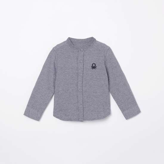 UNITED COLORS OF BENETTON Boys Textured Casual Shirt