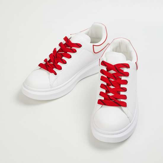 GINGER Women Colourblocked Lace-Up Shoes