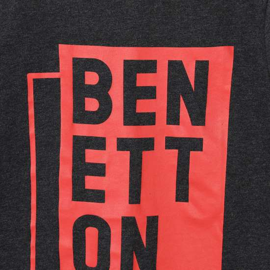 UNITED COLORS OF BENETTON Boys Printed Crew Neck T-shirt