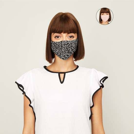 GINGER Women Printed Face Mask- Pack of 2