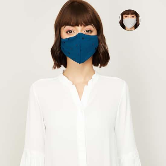 GINGER Women Embellished Facemask- Set of 2