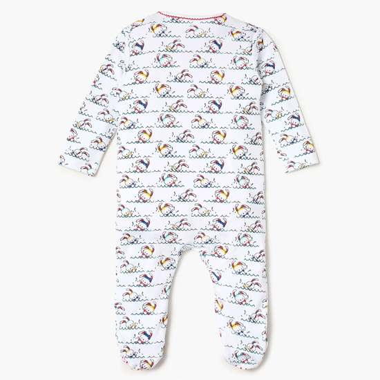 FS MINI KLUB Printed Sleepsuit, Top And Pyjamas Set- 3 Pcs.