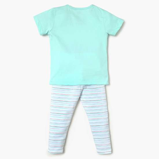 FS MINI KLUB Printed Sleepsuit, T-Shirt And Pyjamas Set- 3 Pcs.