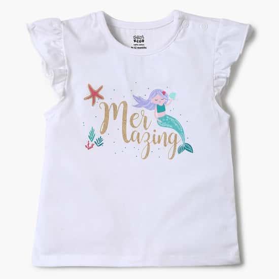 FS MINI KLUB Printed T-shirt, Sleepsuit and Shorts Set