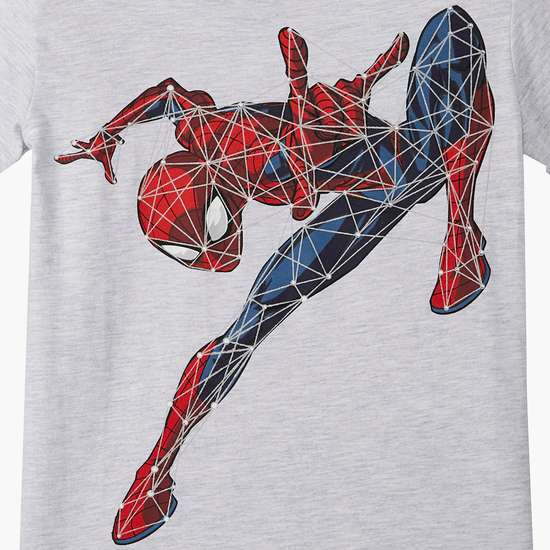 KIDSVILLE Boys Spiderman Print Short Sleeves T-shirt