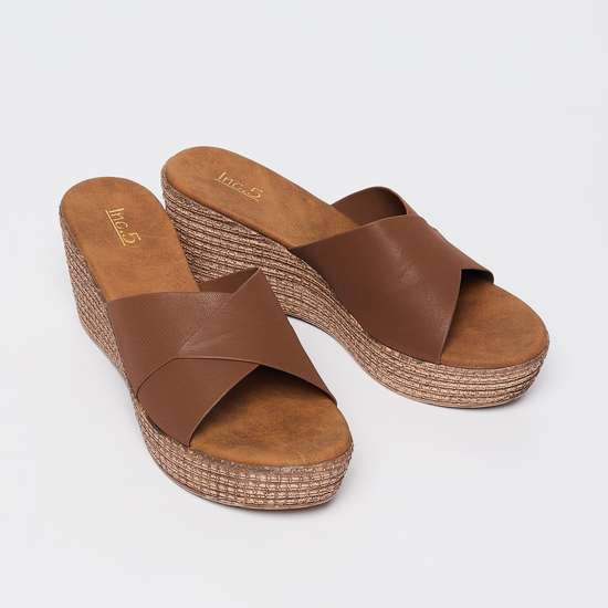 INC.5 Criss-Cross Strap Textured Wedges
