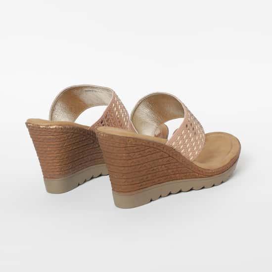 CATWALK Embellished Toe-Ring Wedges