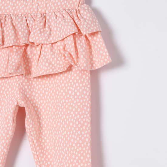 FS MINI KLUB All-Over Print Ruffled Leggings