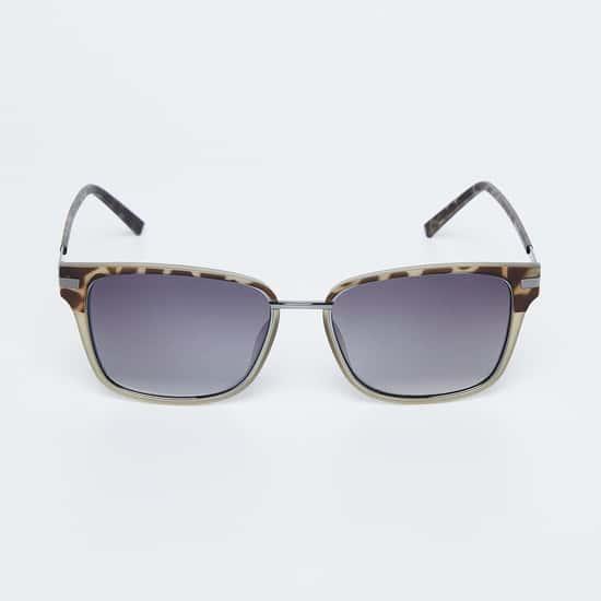 FCUK Men Animal Print Gradient Square Sunglasses