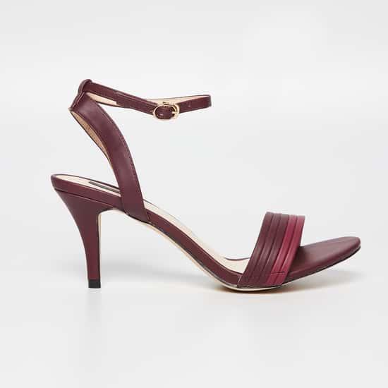 ALLEN SOLLY Ankle-Strap Stilettos