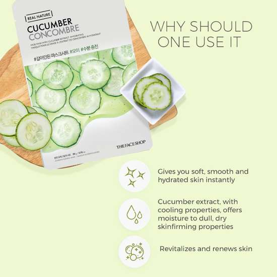 THE FACE SHOP Real Nature Cucumber Face Mask