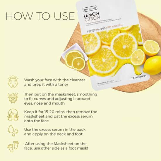 THE FACE SHOP Real Nature Lemon Face Mask
