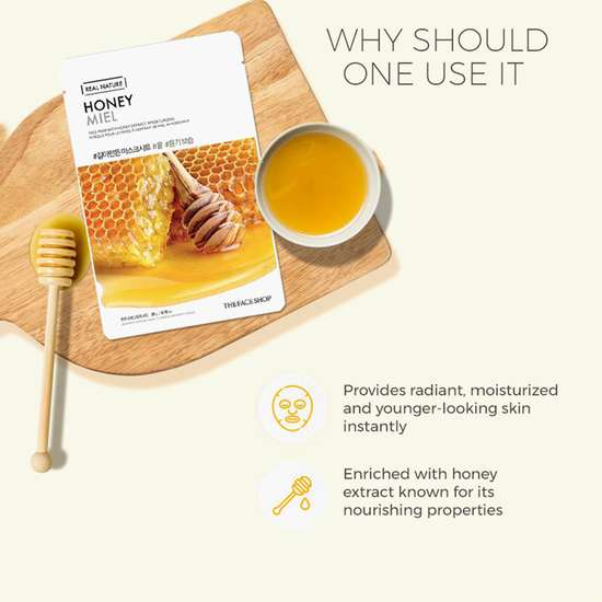 THE FACE SHOP Real Nature Honey Face Mask