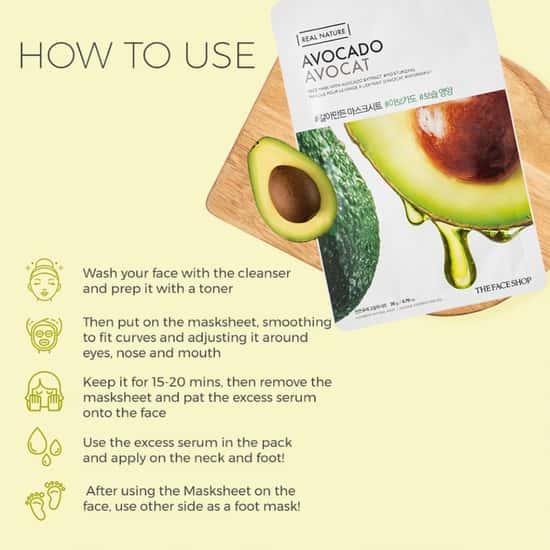 THE FACE SHOP Real Nature Avocado Face Mask