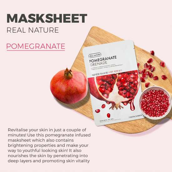THE FACE SHOP Real Nature Pomegranate Face Mask