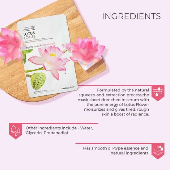THE FACE SHOP Real Nature Lotus Face Mask