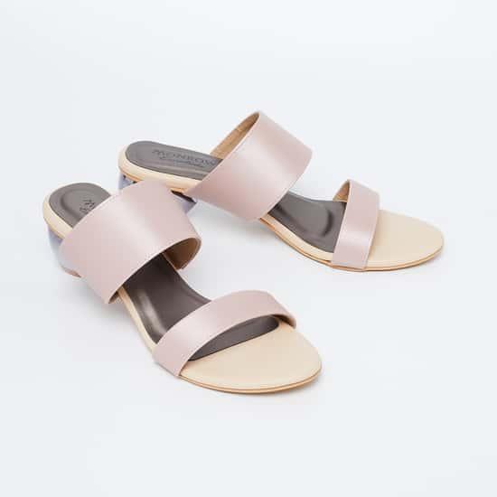 MONROW Sheen Block Heels