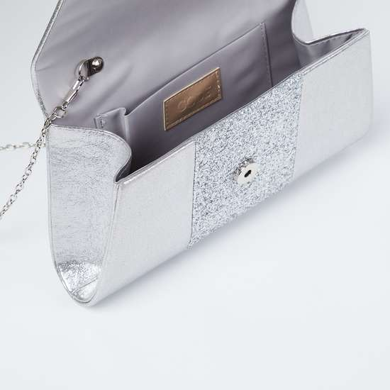 CODE Shimmery Envelope Clutch