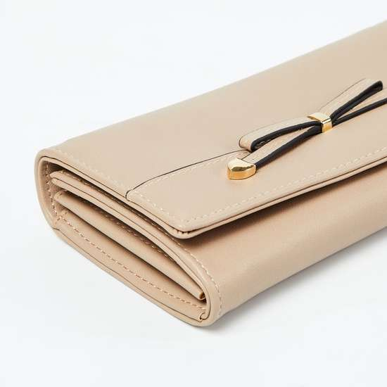 GINGER Solid Wallet with Bow-Detail